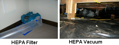 Image of HEPA vacuum and filter - Mold Solutions NW